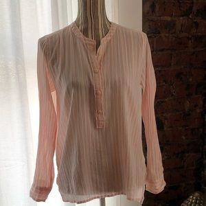 J. Crew pink and white striped tunic size 6